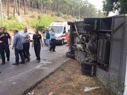 Одиннадцать российских туристов пострадали в аварии автобуса в Анталье