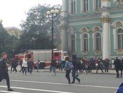 Пожар в Эрмитаже тушат сейчас в Петербурге