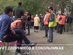 Сотни дворников осадили администрацию Сокольников