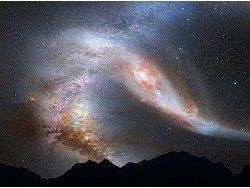 Ученые: В космосе произошло мощное столкновение двух сверхмассивных галактик