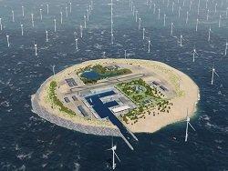 Искусственный остров с мощнейшими ветропарками планирует построить Голландия в Северном