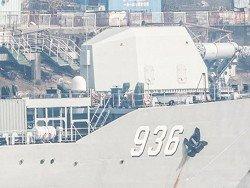 На китайском корабле установили огромную пушку неизвестного типа