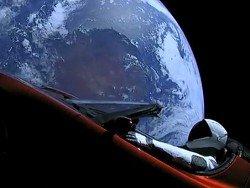 Астрономы показали Tesla в космосе