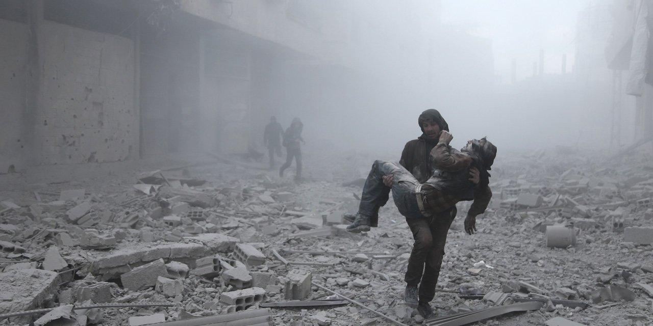 В сирийской Думе обнаружены склады боевиков с химикатами ЕС 6a9f60c1ea0343238528bab0e18fc751