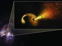 Появилась первая фотография кормящейся черной дыры