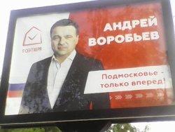 Выборы наместников 9 сентября, а Воробьева уже повесили