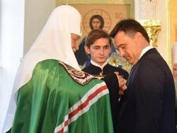 За деньги пенсионеров губернатор Воробьев получил от патриарха орден