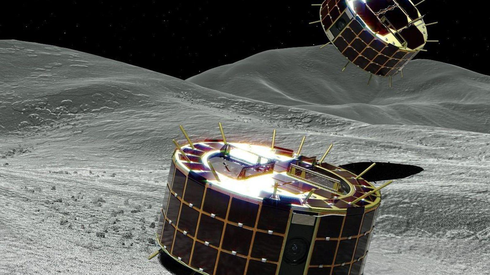 Hayabusa 2 выполняет сброс зондов MINERVA на астероид Рюгу