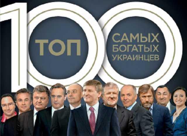 Состояние 100 самых богатых украинцев растет в 12 раз быстрее, чем ВВП страны