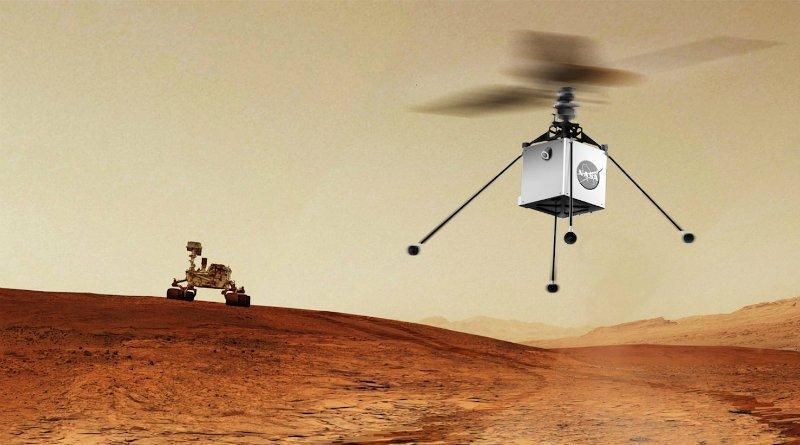 Марсианский вертолет почти готов к отправке на Красную планету