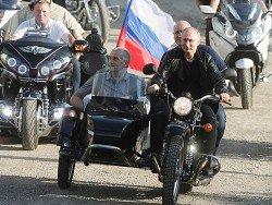 Путин приехал на мотоцикле «Урал» на байк-шоу в Крыму