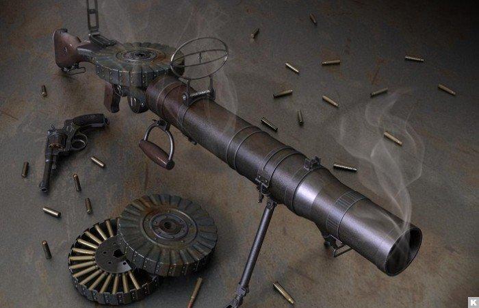 Почему у пулемёта Льюиса ствол большого диаметра