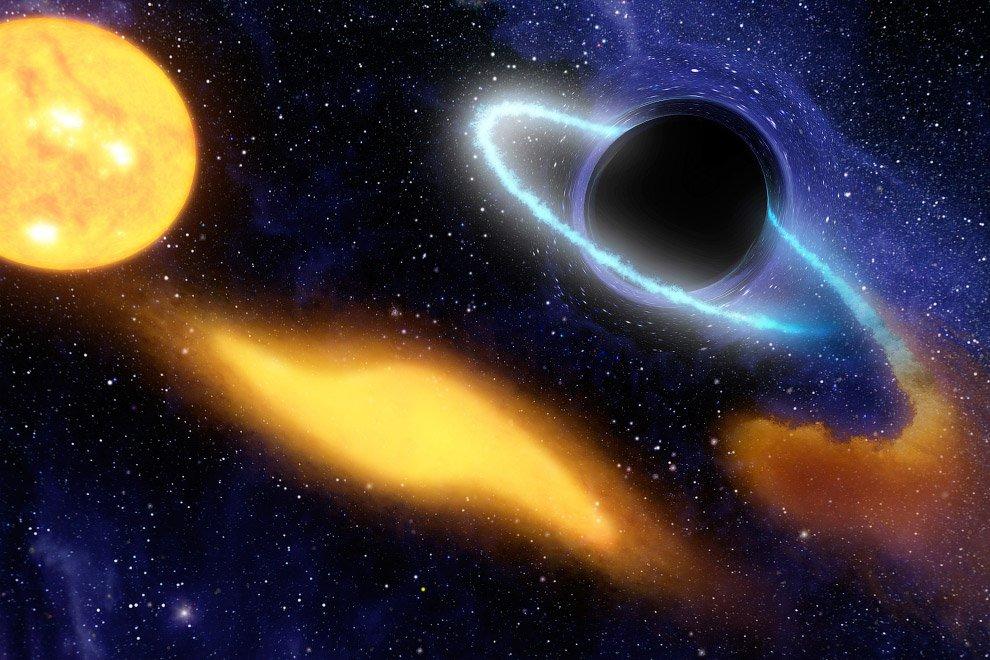 Ученые обнаружили черную дыру - гурмана