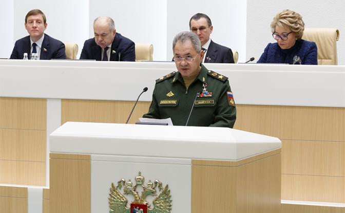 Шойгу порадовал Совет Федерации оглушительным барабанным боем