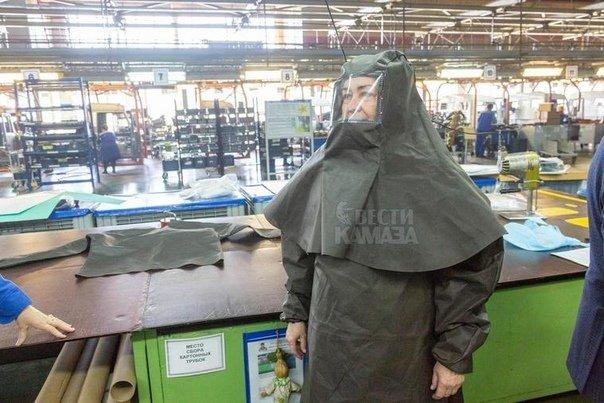КамАЗ наладил производство бесплатных защитных масок и костюмов для врачей