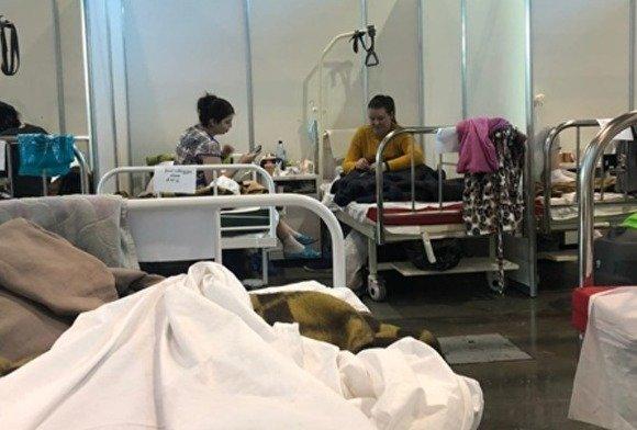 В сети распространяют рассказ пациентки о госпитале в Ленэкспо