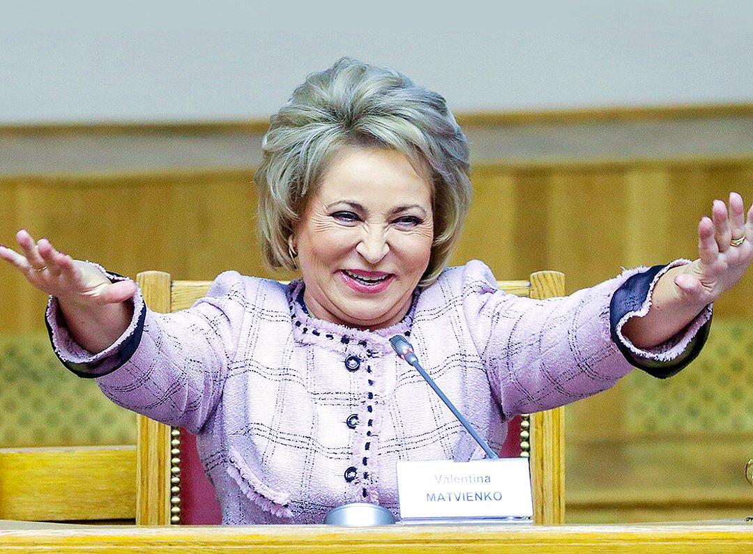 Матвиенко призвала россиян взять пример с Путина и привиться от коронавируса