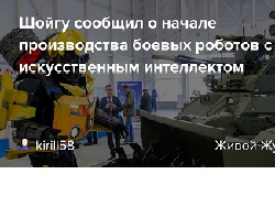 Шойгу заявил о серийном производстве боевых роботов с ИИ в России